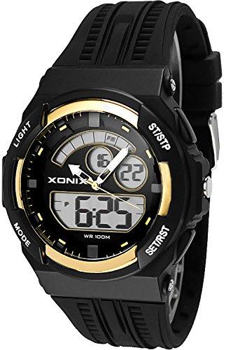 Sportliche XONIX Armbanduhr fuer Herren und Teenager WR100m XMCM 4