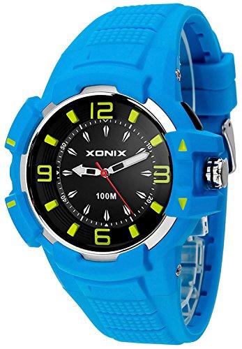 Grosse sportliche analoge XONIX Armbanduhr nickelfrei wasserdicht bis 100m XAEQ 1