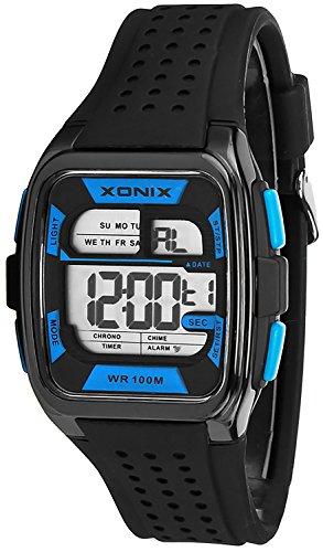 Eckige Sportliche XONIX Armbanduhr fuer Herren und Teenager wasserdicht 100m Alarm Timer Stoppuhr XDY83J 4
