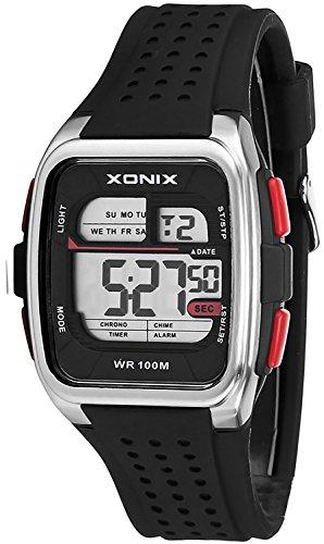Eckige Sportliche XONIX Armbanduhr fuer Herren und Teenager wasserdicht 100m Alarm Timer Stoppuhr XDY83J 1
