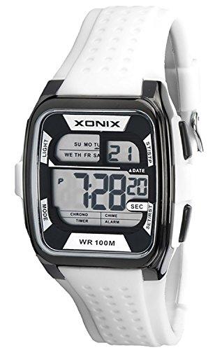 Eckige Sportliche XONIX Armbanduhr fuer Herren und Teenager wasserdicht 100m Alarm Timer Stoppuhr XDY83J 6