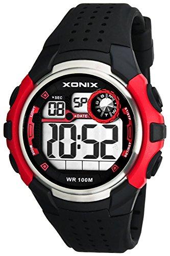 Sportliche XONIX Armbanduhr Herren wasserfest bis 100m mit Alarm Timer Stoppuhr XDB31N 1