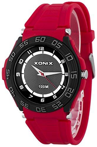 Sportliche analoge XONIX Herrenarmbanduhr wasserdicht bis 100m Licht nickelfrei X0GQ 5