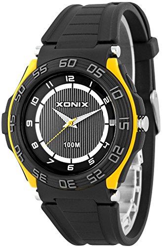 Sportliche analoge XONIX Herrenarmbanduhr wasserdicht bis 100m Licht nickelfrei X0GQ 7