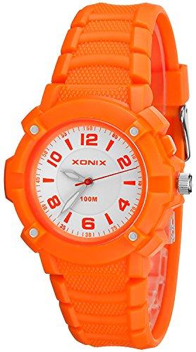 Sportliche XONIX Kinderarmbanduhr wasserfest bis 100m Licht nickelfrei XUP83V 1