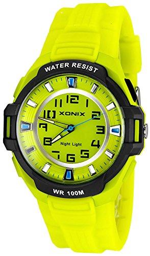 Sportliche XONIX 12 Stunden Ziffernblatt Armbanduhr fuer Herren Licht WR100m XOQ 8