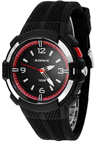 12 Stunden Ziffernblatt XONIX Armbanduhr fuer Herren mit Hintergrundlicht WR100m XAYQ 6