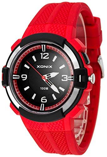 12 Stunden Ziffernblatt XONIX Armbanduhr fuer Herren mit Hintergrundlicht WR100m XAYQ 2