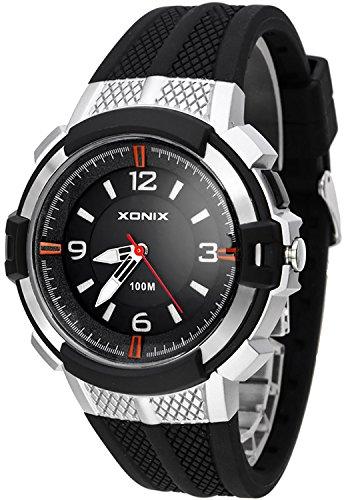 12 Stunden Ziffernblatt XONIX Armbanduhr fuer Herren mit Hintergrundlicht WR100m XAYQ 3