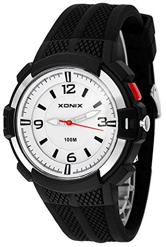 12 Stunden Ziffernblatt XONIX Armbanduhr fuer Herren mit Hintergrundlicht WR100m XAYQ 5
