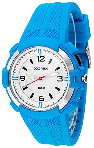 12 Stunden Ziffernblatt XONIX Armbanduhr fuer Herren mit Hintergrundlicht WR100m XAYQ 1