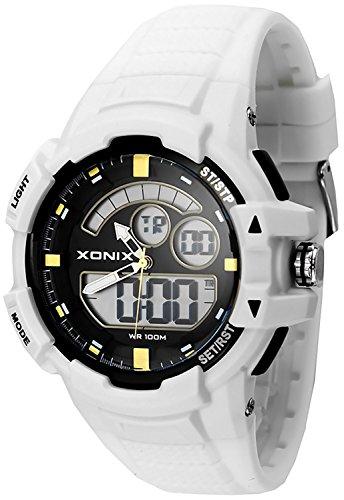 Herren Teenager Multifunktions XONIX Armbanduhr digial analog WR100m XMWM 1