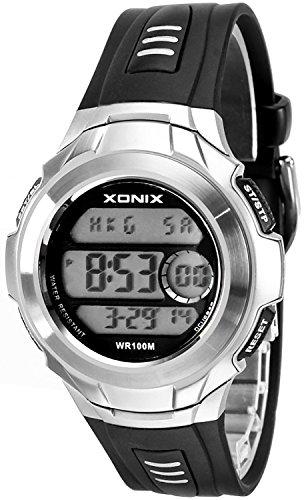 Herren Teenager XONIX Armbanduhr mit Weltzeitangabe WR100m nickelfrei XTC 1