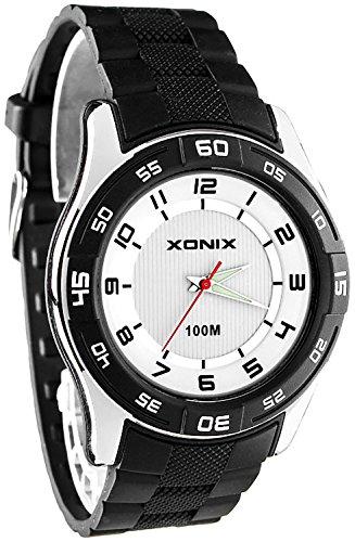 Grosse ultraleichte XONIX Armbanduhr fuer Herren und Teenager nickelfrei WR100m FQ 3
