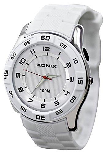Grosse ultraleichte XONIX Armbanduhr fuer Herren und Teenager nickelfrei WR100m FQ 4
