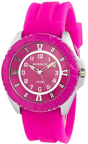 Grosse Unisex XONIX Armbanduhr mit beleuchtetem Ziffernblatt WR100m JQ 5
