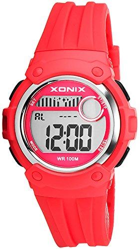 Unisex XONIX Armbanduhr Funktionen wie Alarm Stoppuhr Timer WR100m XHPK 4