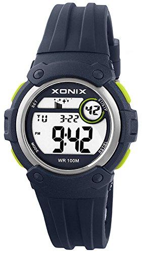Unisex XONIX Armbanduhr Funktionen wie Alarm Stoppuhr Timer WR100m XHPK 6