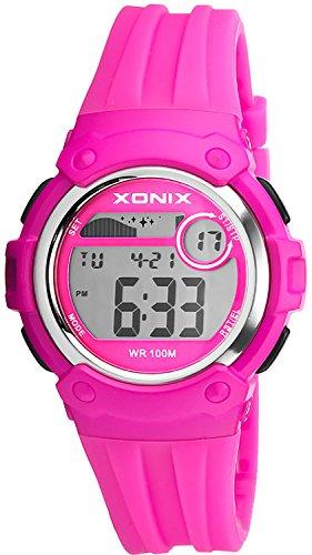Unisex XONIX Armbanduhr Funktionen wie Alarm Stoppuhr Timer WR100m XHPK 3