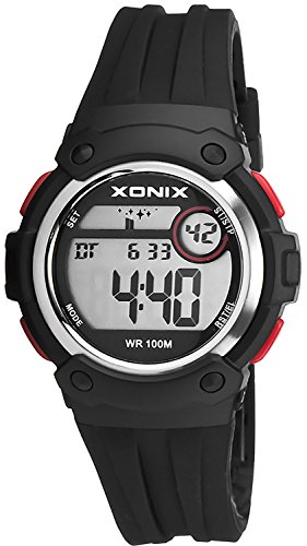 Unisex XONIX Armbanduhr Funktionen wie Alarm Stoppuhr Timer WR100m XHPK 5