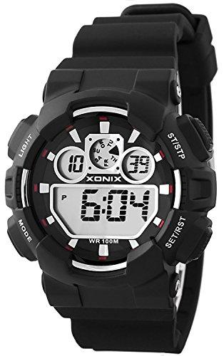 Grosse Unisex XONIX Armbanduhr verschiedene Farben Timer Alarm Stoppuhr WR100m XDL87J 8
