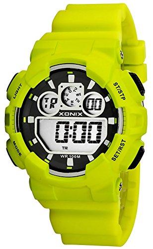 Grosse Unisex XONIX Armbanduhr verschiedene Farben Timer Alarm Stoppuhr WR100m XDL87J 4