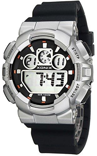 Grosse Unisex XONIX Armbanduhr verschiedene Farben Timer Alarm Stoppuhr WR100m XDL87J 2