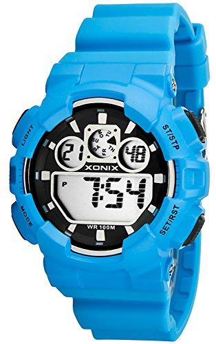 Grosse Unisex XONIX Armbanduhr verschiedene Farben Timer Alarm Stoppuhr WR100m XDL87J 3