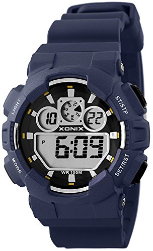 Grosse Unisex XONIX Armbanduhr verschiedene Farben Timer Alarm Stoppuhr WR100m XDL87J 7