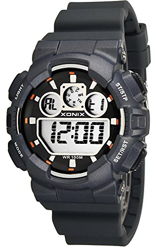 Grosse Unisex XONIX Armbanduhr verschiedene Farben Timer Alarm Stoppuhr WR100m XDL87J 5