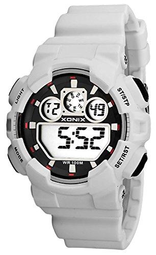 Grosse Unisex XONIX Armbanduhr verschiedene Farben Timer Alarm Stoppuhr WR100m XDL87J 6