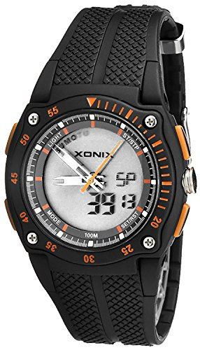 Unisex XONIX Multifunktions Armbanduhr analog digital WR100m HD 1
