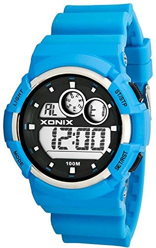 Universelle XONIX Armbanduhr mit Alarm Timer Datum Stoppuhr WR100m XAU31J 7