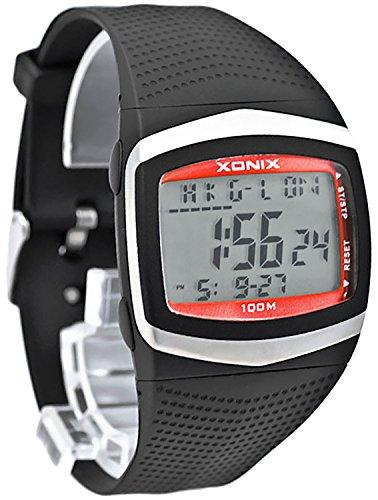 XONIX Armbanduhr fuer Herren WR100m 8xAlarm Weltzeitangabe Stoppuhr Timer FG 2