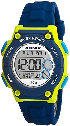 XONIX Armbanduhr Unisex 8xAlarm Timer Weltzeitangabe WR100m XD13W11 4