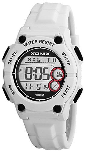XONIX Armbanduhr Unisex 8xAlarm Timer Weltzeitangabe WR100m XD13W11 6