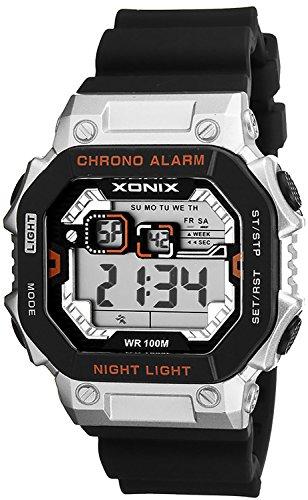 XONIX Armbanduhr fuer Herren wasserdicht bis 100m mit Alarm Licht Timer Stoppuhr XDF11N 2