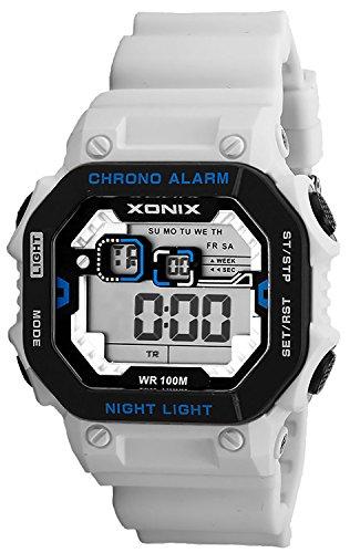 XONIX Armbanduhr fuer Herren wasserdicht bis 100m mit Alarm Licht Timer Stoppuhr XDF11N 3