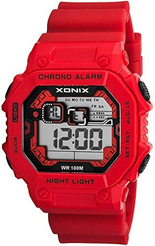 XONIX Armbanduhr fuer Herren wasserdicht bis 100m mit Alarm Licht Timer Stoppuhr XDF11N 5