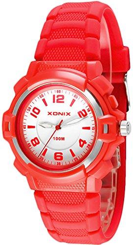 Damen und Kinder XONIX Armbanduhr mit Hintergrundlicht nickelfrei wasserdicht bis 100m XAUP 3