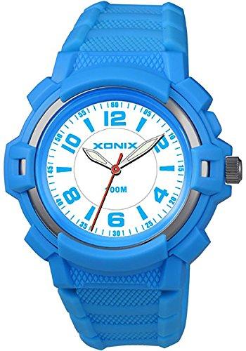 Damen und Kinder XONIX Armbanduhr mit Hintergrundlicht nickelfrei wasserdicht bis 100m XAUP 7