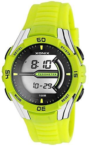 XONIX Armbanduhr Pedometer Speicher Kalorienzaehler WR100m Herren und Teenager XPJK 1