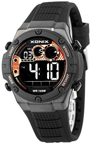 XONIX Armbanduhr fuer Ihn WR100m Stoppuhr Timer Alarm 2Zeitzone XDMCH88 1