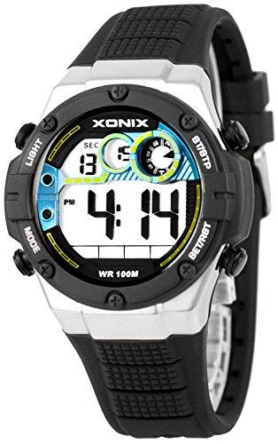 XONIX Armbanduhr fuer Ihn WR100m Stoppuhr Timer Alarm 2Zeitzone XDMCH88 6