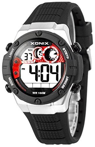 XONIX Armbanduhr fuer Ihn WR100m Stoppuhr Timer Alarm 2Zeitzone XDMCH88 5