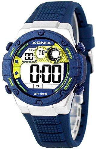 XONIX Armbanduhr fuer Ihn WR100m Stoppuhr Timer Alarm 2Zeitzone XDMCH88 2