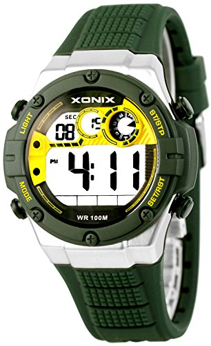 XONIX Armbanduhr fuer Ihn WR100m Stoppuhr Timer Alarm 2Zeitzone XDMCH88 3