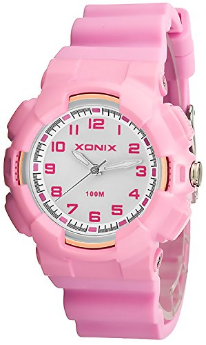Damen XONIX Armbanduhr mit 12 Stunden Ziffernblatt WR100m nickelfrei XKM1L 5