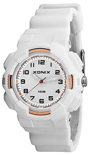 Damen XONIX Armbanduhr mit 12 Stunden Ziffernblatt WR100m nickelfrei XKM1L 3
