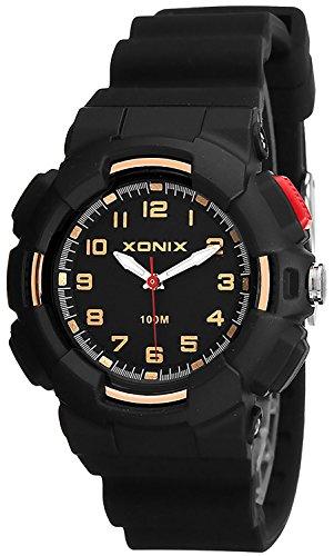 Damen XONIX Armbanduhr mit 12 Stunden Ziffernblatt WR100m nickelfrei XKM1L 1